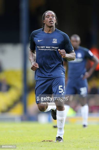 Nile Ranger of Southend United in action during the Sky Bet League One match between Southend United and Northampton Town at Roots Hall on September...