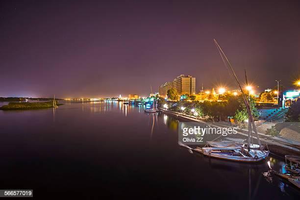 Nile river in night