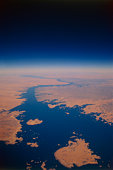 Nile river viewed from space