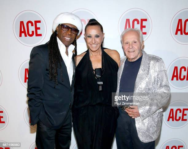 Nile Rodgers Donna Karan and Henry Buhl attend the 2017 ACE Gala at Capitale on May 23 2017 in New York City