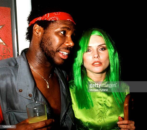 Nile Rodgers of Chic and Debbie Harry of Blondie at a party for the release of her solo album KOO KOO New York 1981