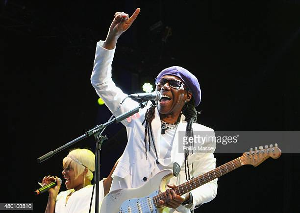 Nile Rodgers of Chic performs at Iveagh Gardens on July 9 2015 in Dublin Ireland