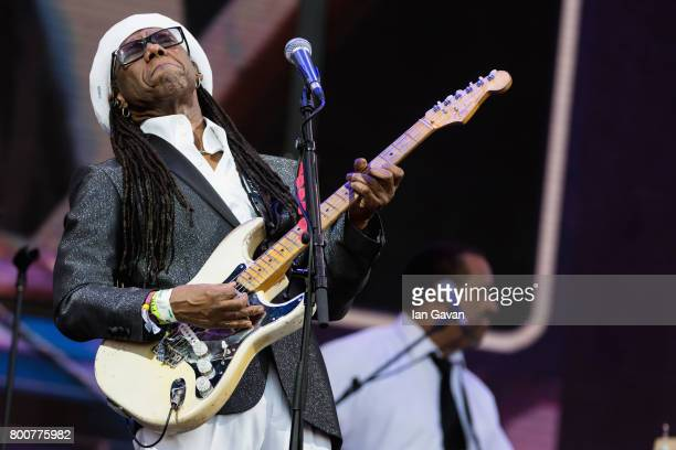 Nile Rodgers of Chic performs on day 4 of the Glastonbury Festival 2017 at Worthy Farm Pilton on June 25 2017 in Glastonbury England