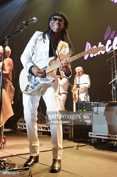 Nile Rodgers performs at The Roundhouse on March 20 2015 in London England
