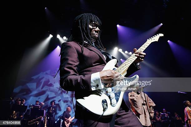 Nile Rodgers performs during the 10th Annual Apollo Theater Spring Gala at The Apollo Theater on June 8 2015 in New York City
