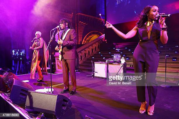 Nile Rodgers performs live at the inaugural Walkabout Foundation gala drinks by Boujis London at Natural History Museum on June 27 2015 in London...