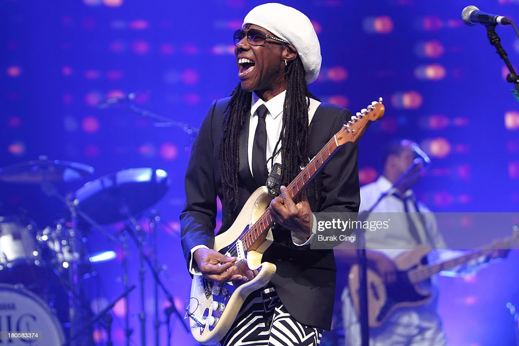 <a gi-track='captionPersonalityLinkClicked' href=/galleries/search?phrase=Nile+Rodgers&family=editorial&specificpeople=217582 ng-click='$event.stopPropagation()'>Nile Rodgers</a> performs on stage on Day 14 of iTunes Festival 2013 at The Roundhouse on September 14, 2013 in London, England.