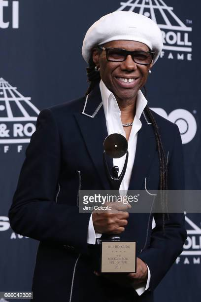 Niles Rodgers attend the 32nd Annual Rock Roll Hall Of Fame Induction Ceremony at Barclays Center on April 7 2017 in New York City