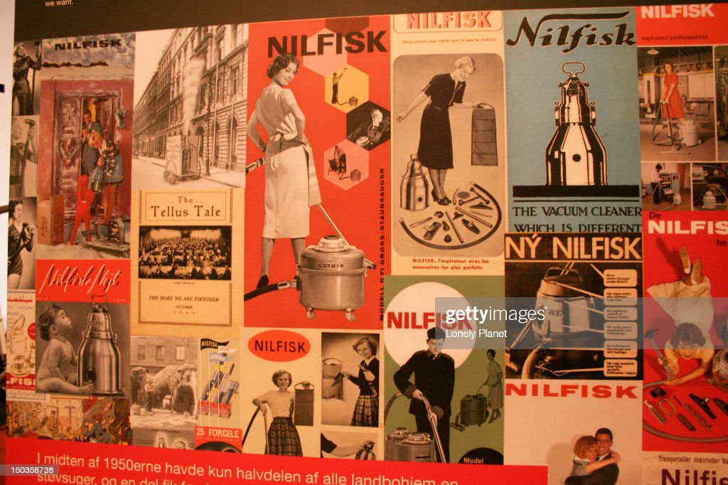 Nilfisk vacuum cleaner advertising at the Dansk Design Center. : Stock Photo