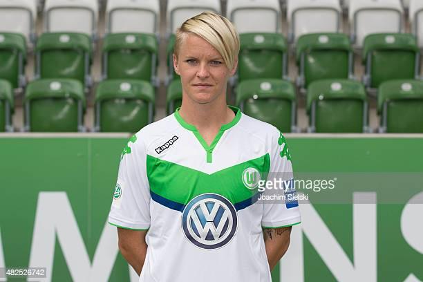 Nilla Fischer during the VfL Wolfsburg Women's team presentation on July 31 2015 in Wolfsburg Germany