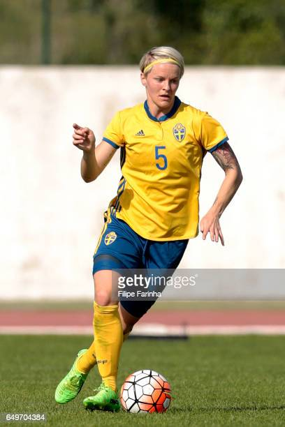 Nilla Fischer of Sweden during the Algarve Cup Tournament Match between Sweden W and Netherlands W on March 6 2017 in Lagos Portugal