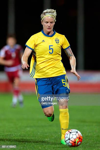Nilla Fischer of Sweden during the Algarve Cup Tournament Match between Sweden W and Russia W on March 8 2017 in Albufeira Portugal