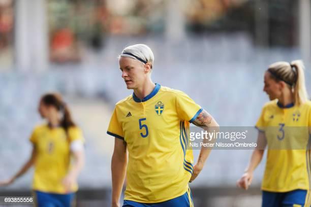 Nilla Fischer of Sweden during the international friendly between Sweden and USA at Ullevi Stadium on June 8 2017 in Gothenburg Sweden