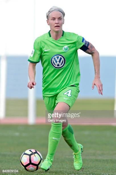 Nilla Fischer of Wolfsburg during the Women's Friendly Match between VfL Wolfsburg Women's and SC Huelva on February 2 2017 in Vila Real Santo...