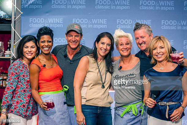 Nilou Motamed Tamron Hall Ty Pennington Christina Grdovic Anne Burrell Tim Love and Sissy Biggers attend the Classic Cook Off at the34th Annual Food...