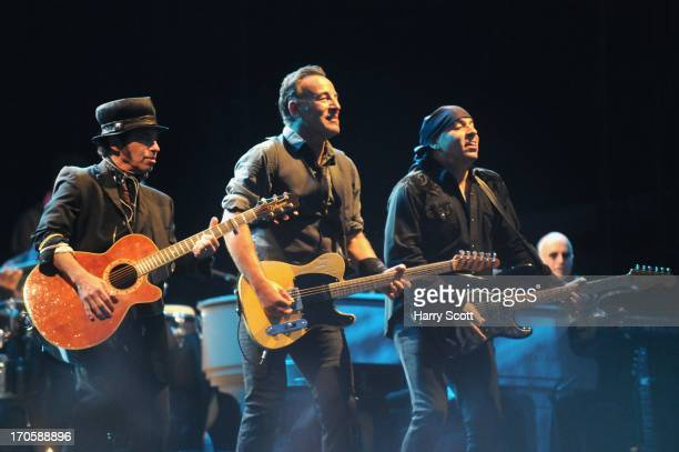 Nils Lofgren Bruce Springsteen and Steve Van Zandt perform on stage on May 31 2013 in Padova Italy