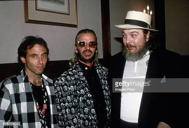 Nils Lofgren Ringo Starr and Dr John circa 1989 in New York City