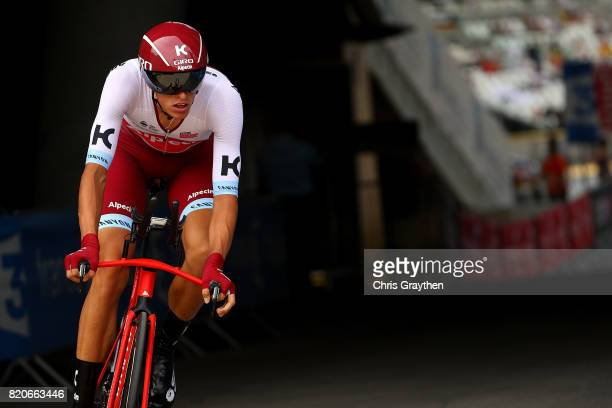 Nils Politt of Germany and Team Katusha Alpecin in action during stage twenty of Le Tour de France 2017 on July 22 2017 in Marseille France