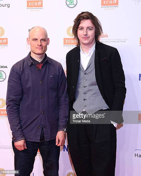 Nils Wogram and Michael Wollny attend the Echo Jazz 2016 Arrivals on May 26 2016 in Hamburg Germany