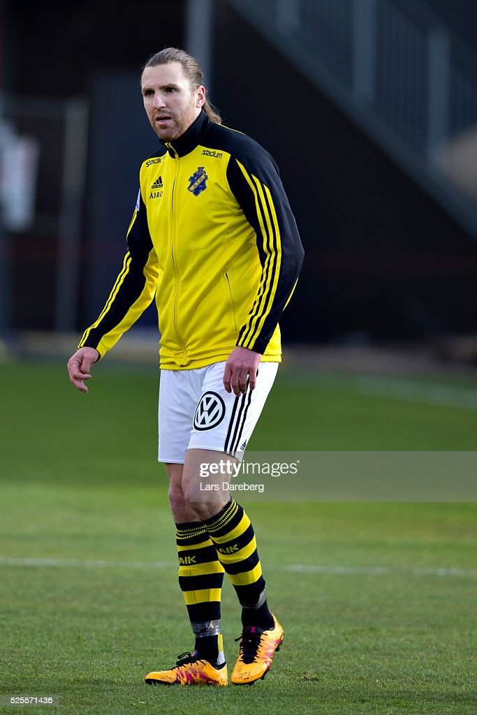 <a gi-track='captionPersonalityLinkClicked' href=/galleries/search?phrase=Nils-Eric+Johansson&family=editorial&specificpeople=240698 ng-click='$event.stopPropagation()'>Nils-Eric Johansson</a> of AIK during the Allsvenskan match between Helsingborgs IF and AIK at Olympia on April 28, 2016 in Helsingborg, Sweden.