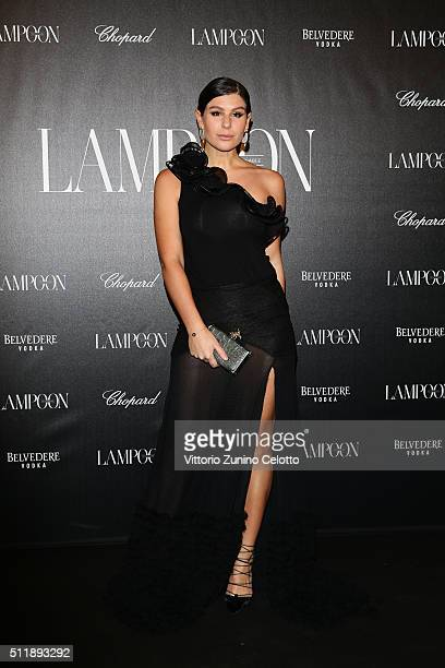 Nima Benati in Amen attends #THE ROYAL PUNK Party By Lampoon on February 23 2016 in Milan Italy