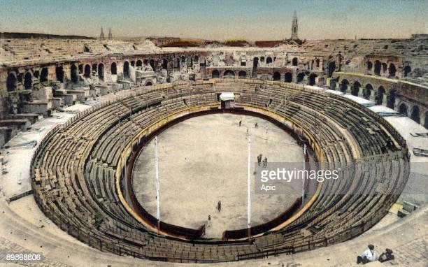 Nimes France the amphitheatre postcard c 1900