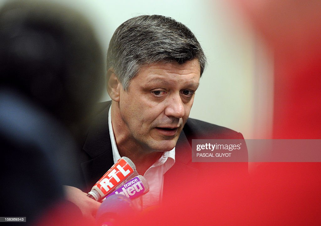 Nimes' Prosecutor of the Republic, Stephane Bertrand, speaks during a press conference, on December 14, 2012 in Nimes, southern France, after Kamel Bousselat, the alleged abductor of Chloe, the girl kidnapped in the Gard and found in Germany, was indicted today in Nimes for 'kidnapping and rape'.