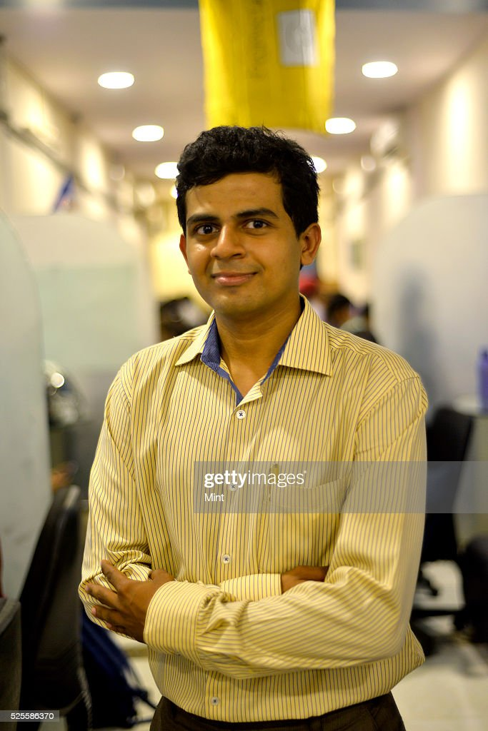 Nimit Bavisi, Founder of a job referral platform Happy2Refer, poses for a profile shoot on May 14, 2015 in Mumbai, India.