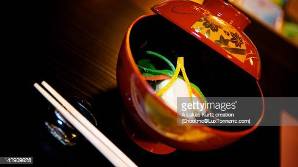 Nimono stew in bowl on table