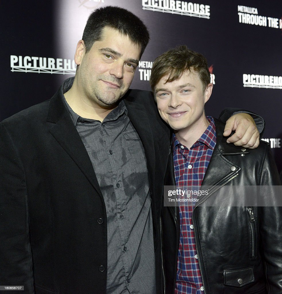 Nimrod Antal and Dane Dehaan attend the US Premiere of Metallica Through The Never at the AMC Metreon on September 16 2013 in San Francisco California