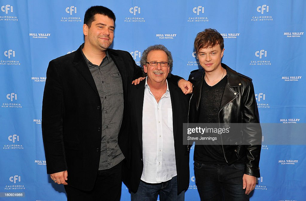 Nimrod Antal, Mark Fishkin and <a gi-track='captionPersonalityLinkClicked' href=/galleries/search?phrase=Dane+DeHaan&family=editorial&specificpeople=6890481 ng-click='$event.stopPropagation()'>Dane DeHaan</a> attend the 'Metallica Through The Never' U.S. Public Premiere and Special Advance 36th Annual Mill Valley Film Festival Kick-Off Event at Christopher B. Smith Rafael Film Center on September 17, 2013 in San Rafael, California.