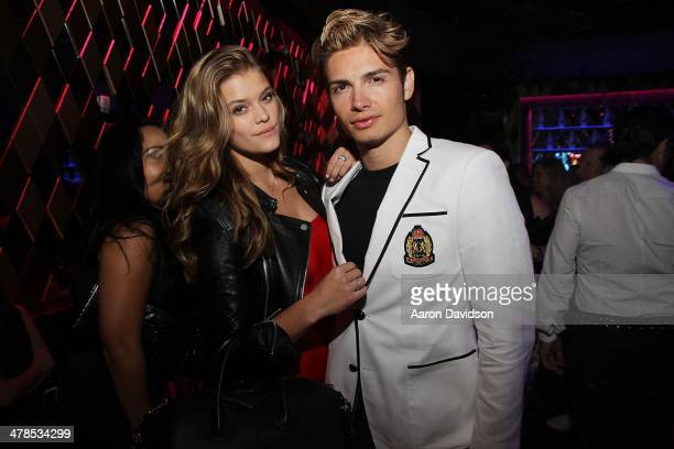 Nina Agdal and Christian Acosta attend Spring Fling at Wall at W Hotel on March 13 2014 in Miami Beach Florida