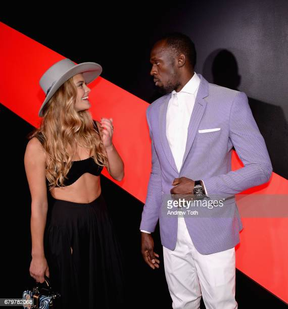 Nina Agdal and Usain Bolt attend GH Mumm and Usain Bolt's Toast to the Kentucky Derby on May 6 2017 in New York City