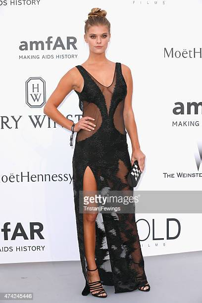 Nina Agdal attends amfAR's 22nd Cinema Against AIDS Gala Presented By Bold Films And Harry Winston at Hotel du CapEdenRoc on May 21 2015 in Cap...