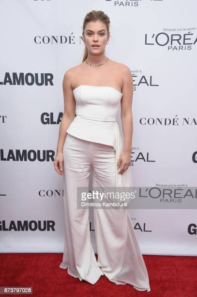Nina Agdal attends Glamour's 2017 Women of The Year Awards at Kings Theatre on November 13 2017 in Brooklyn New York