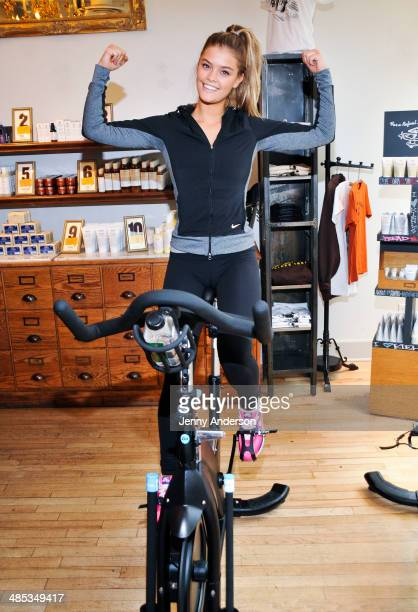 Nina Agdal attends the Kiehl's Ride For Charity at Kiehl's Since 1851 Flagship Store on April 17 2014 in New York City
