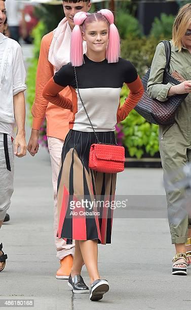 Nina Agdal is seen in Tribeca on September 1 2015 in New York City