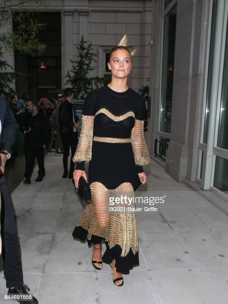 Nina Agdal is seen on September 08 2017 in New York City