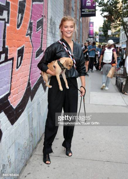 Nina Agdal is seen on September 11 2017 in New York City
