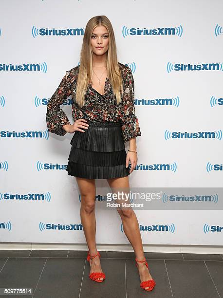 Nina Agdal visits at SiriusXM Studios on February 12 2016 in New York City