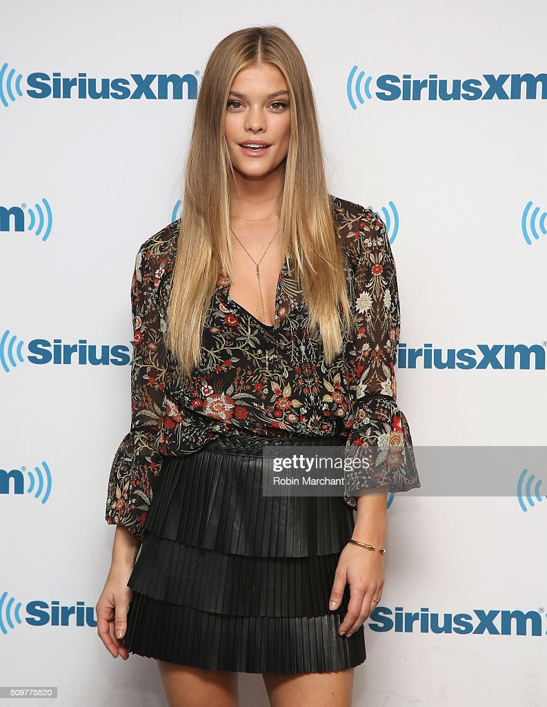<a gi-track='captionPersonalityLinkClicked' href=/galleries/search?phrase=Nina+Agdal&family=editorial&specificpeople=7574783 ng-click='$event.stopPropagation()'>Nina Agdal</a> visits at SiriusXM Studios on February 12, 2016 in New York City.