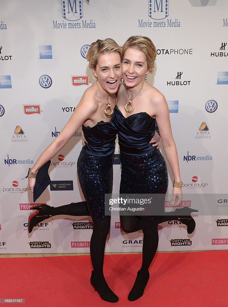 Nina and Julia Meise attend networking event 'Movie meets Media' at Hotel Atlantic on December 2 2013 in Hamburg Germany
