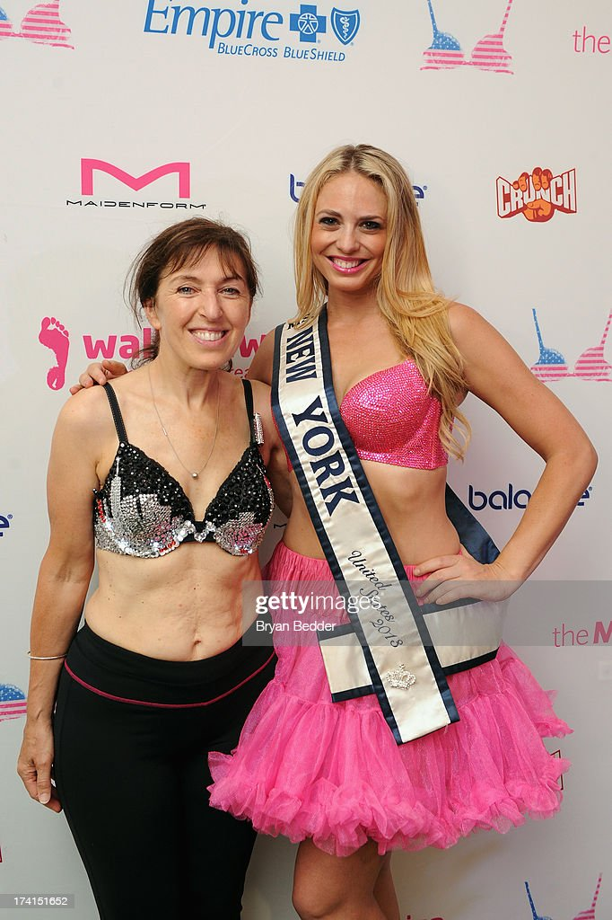 Nina Barough, founder of Walk the Walk and Ms. New York 2013 Stephanie Jill Chernick attend the first-ever MoonWalk NYC at Randall's Island on July 21, 2013 in New York City.