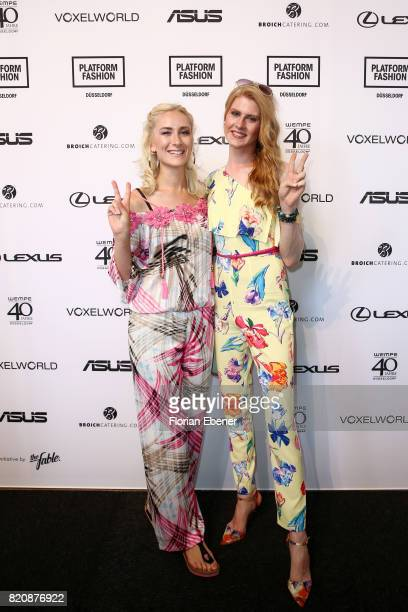 Nina Bauer and Veit Alex attend the 3D Fashion Presented By Lexus/Voxelworld show during Platform Fashion July 2017 at Areal Boehler on July 22 2017...