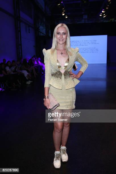 Nina Bauer attends the Studio Rundholz show during Platform Fashion July 2017 at Areal Boehler on July 21 2017 in Duesseldorf Germany