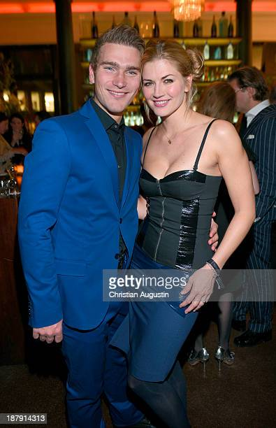 Nina Bott and Benjamin Baarz attend GALA event 'Where Diamonds meet Red Carpet' at the restaurant 'The Bank' on November 13 2013 in Hamburg Germany