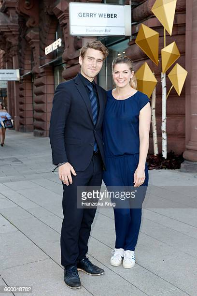 Nina Bott and Benjamin Baarz attend the Gerry Weber Store Opening on September 7 2016 in Hamburg Germany