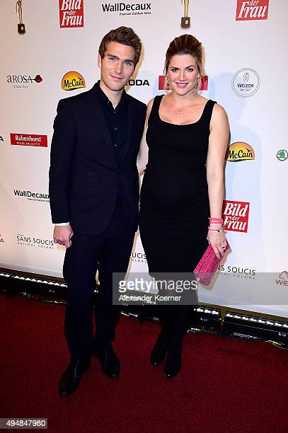 Nina Bott and Benjamin Baarz attend the 'Goldene Bild Der Frau' Award 2015 at Stage Operettenhaus on October 29 2015 in Hamburg Germany