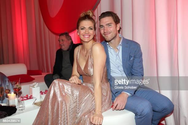 Nina Bott and her husband Benjamin Baarz during the Mon Cheri Barbara Tag at Postpalast on November 30 2017 in Munich Germany