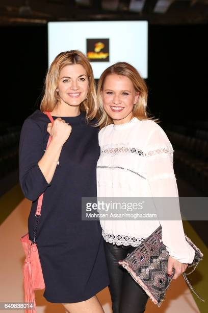 Nina Bott and Nova Meierhenrich attend the Green Carpet Event of Tchibo on March 8 2017 in Hamburg Germany